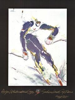 Apen Wintern National 1982 original ski vintage poster