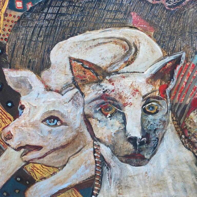 Folk Art Terry Turrell Painting Crosswalk For Sale