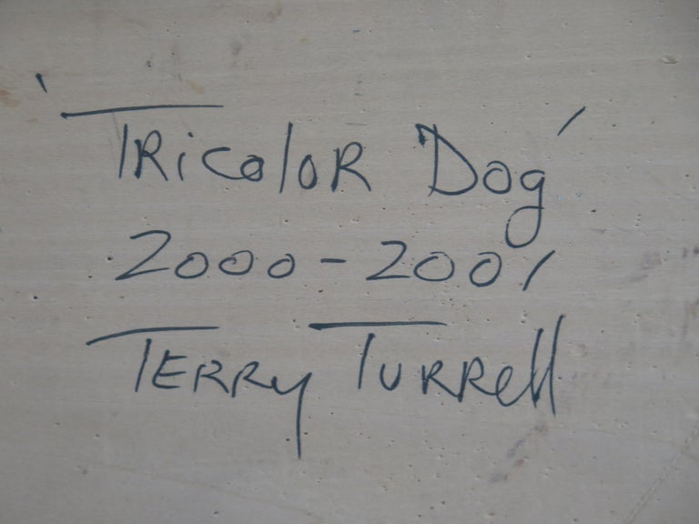 Painted Terry Turrell Tri-Color Dog Painting For Sale