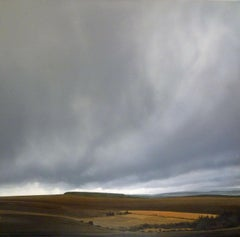 Dartmoor in Low Cloud - contemporary photorealistic stormy landscape clouds