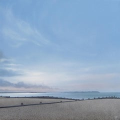 Quiet Afternoon Whitstable - contemporary seaside beach landscape painting