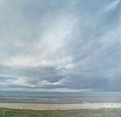 Seasalter Mud - contemporary seaside beach landscape painting