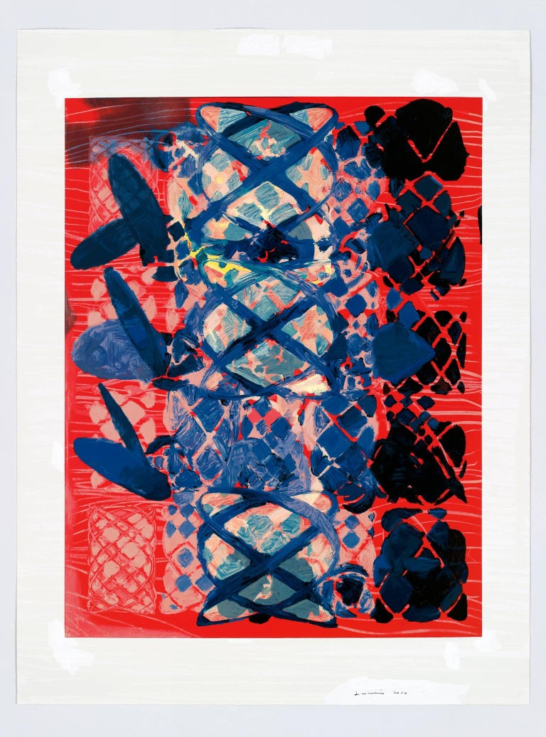 Terry Winters Abstract Print - ILLUSTRATED SET, screen print, signed and numbered, Ed. of 117
