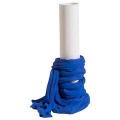 Tertium Quid Vase S7 Porcelain Blue and White Fabric Texture