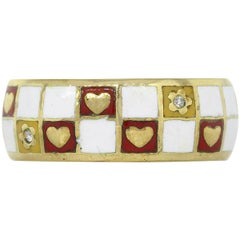 Tesoro Diamond Hearts and Flowers Checkerboard Band