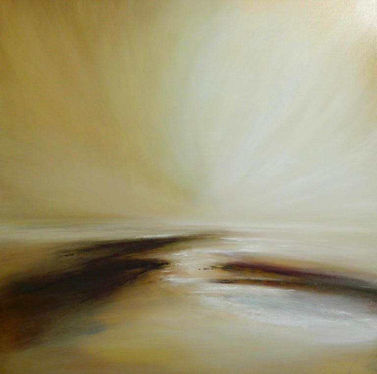 Arcadia Original, Oil Paint Canvas  Abstract Landscape Impressionism Signed  - Art by Tessa Houghton
