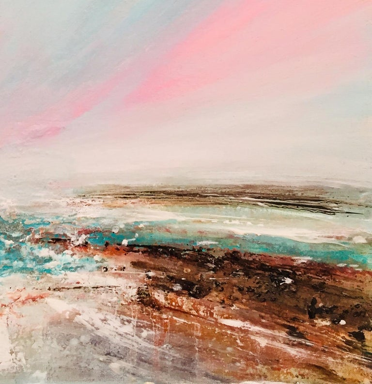 Houghton creates dreamlike ethereal landscapes that are infused with light, texture, and infinite possibilities. Expansive vistas with blurred horizons, feature pathways and journeys with unknown destinations.  Inspired by nature with its inherent