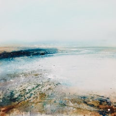 Pebble Original Oil paint on panel textured semi abstract delicate seascape