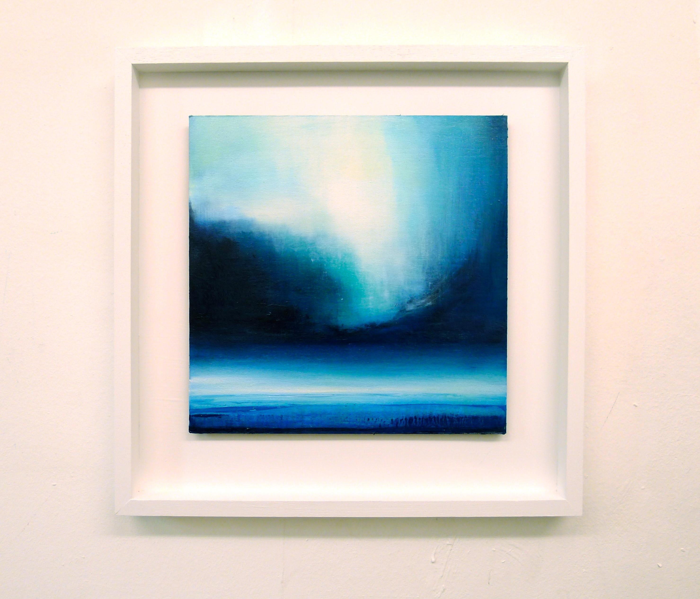 Reverie Original Oil paint on panel semi Abstract seascape Rich prussian blue