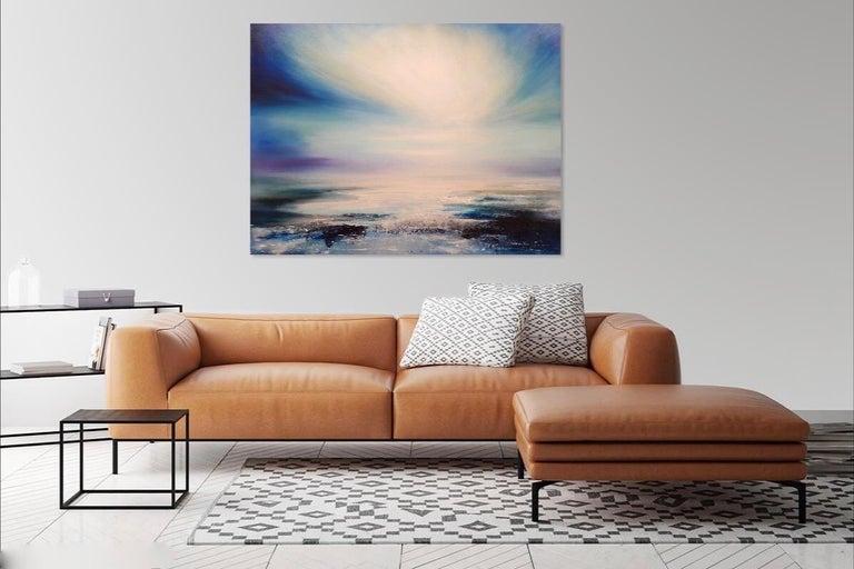 Zephyr Original Oil paint Canvas board Seascape Interiors Signed  For Sale 1