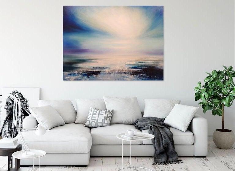 Zephyr Original Oil paint Canvas board Seascape Interiors Signed  For Sale 2