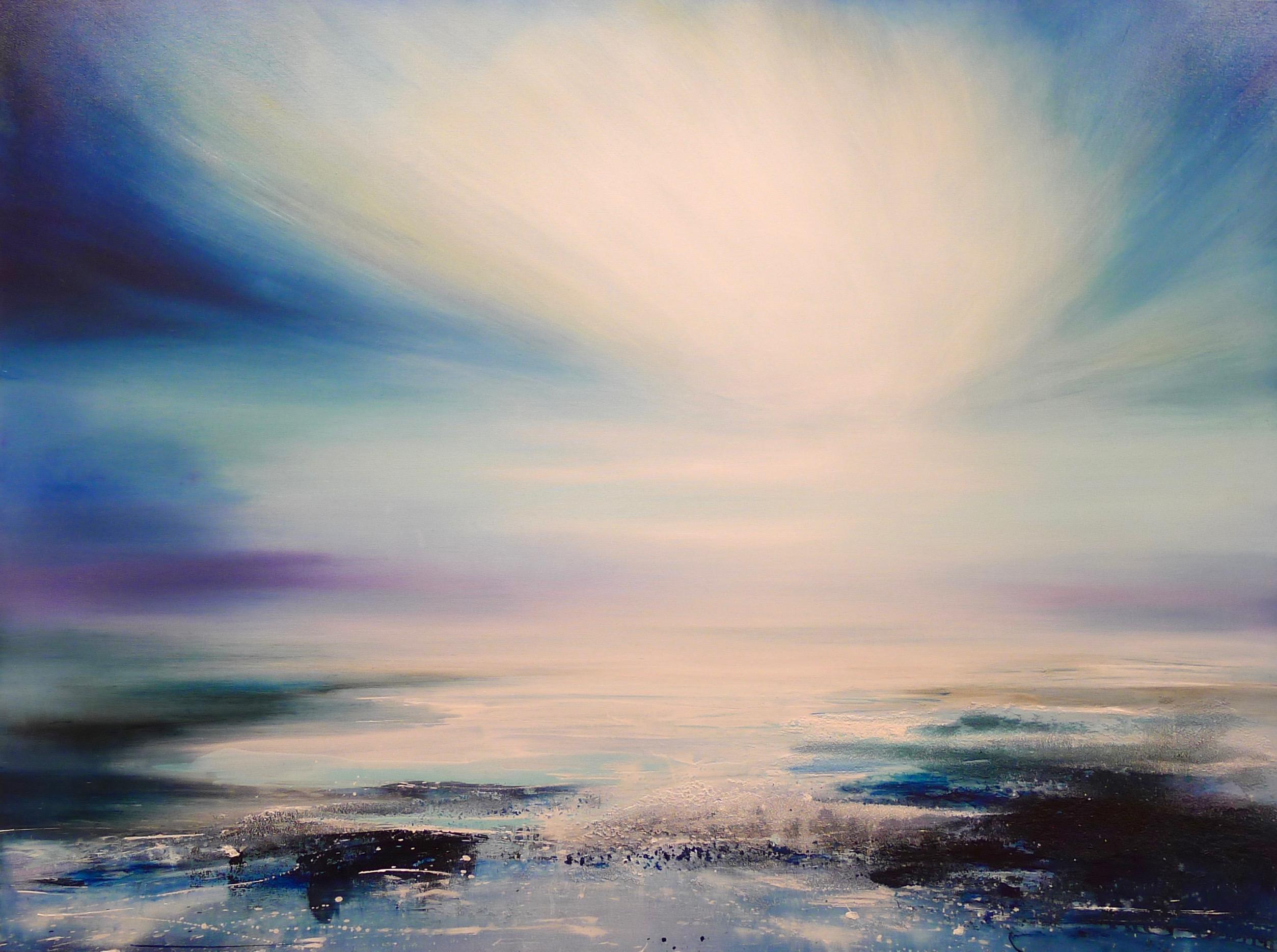 Zephyr Original Oil paint Canvas board Seascape Interiors Signed