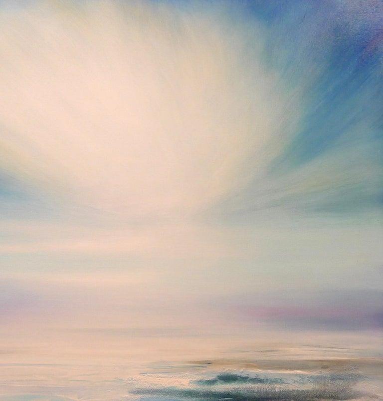 Zephyr Original Oil paint Canvas board Seascape Interiors Signed  For Sale 3