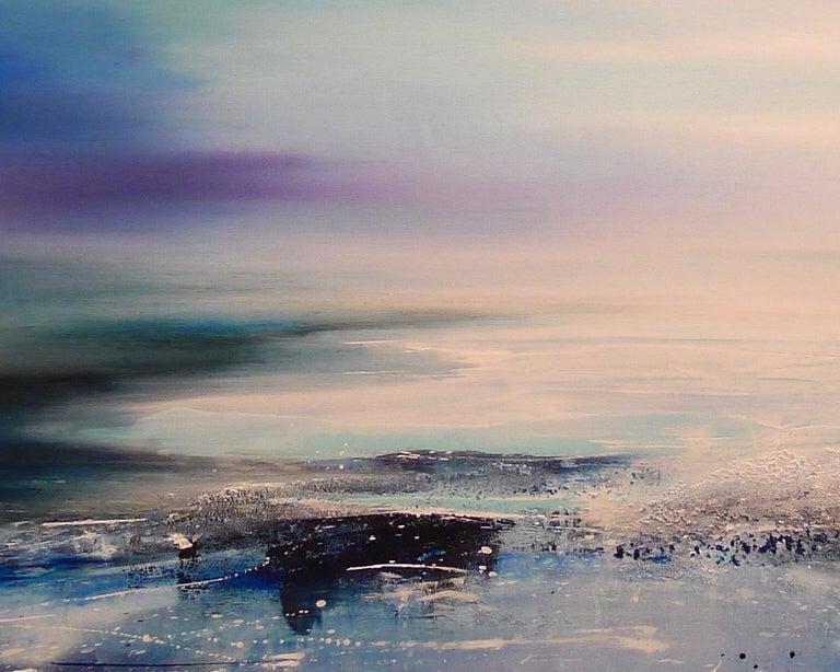 Zephyr Original Oil paint Canvas board Seascape Interiors Signed  For Sale 4