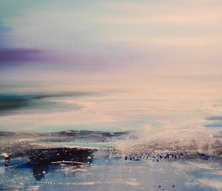 Zephyr Original Oil paint Canvas board Seascape Interiors Signed  For Sale 6
