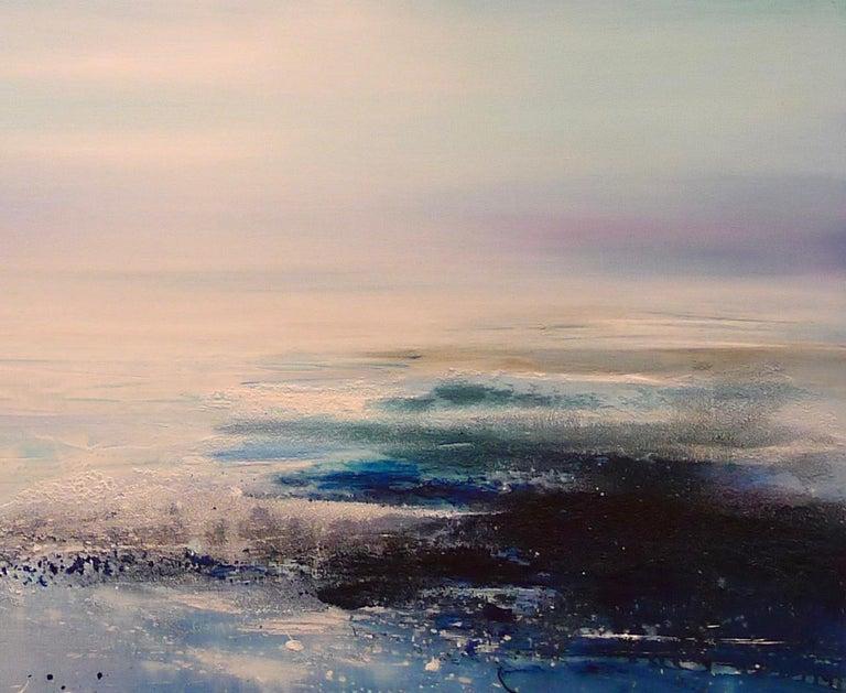 Zephyr Original Oil paint Canvas board Seascape Interiors Signed  For Sale 7