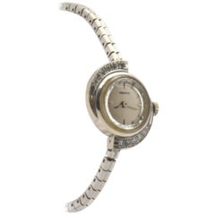 Tessco Ladies White Gold Diamond manual wind Wristwatch