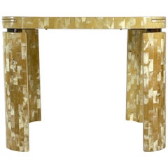 Tesselated Bone Square Game Table by Enrique Garcel Patchwork, Bogota, Columbia