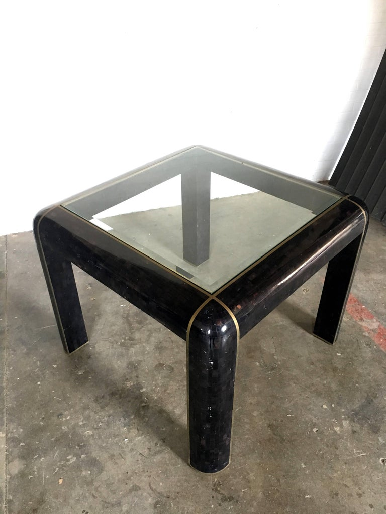 Tesselated Horn Game Table Or Small Dining Table By