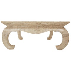 "Tessellate Stone Square ""Chow"" Cocktail Coffee Table, 1990s"