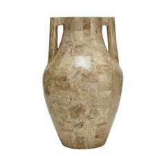 Tessellated Cantor Stone Mesopotamia Jug Vase, 1990s
