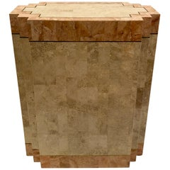 Tessellated Fossil Stone Pedestal Dinning Table Base by Maitland Smith
