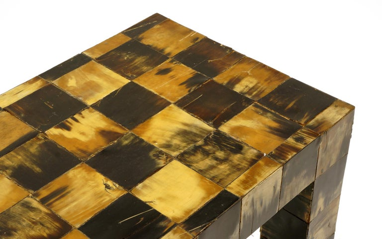 Colombian Tessellated Horn Console / Sofa Table by William Piedrahita for Thomas Britt For Sale