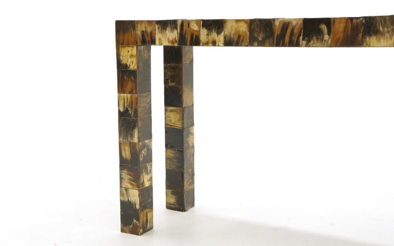 Tessellated Horn Console / Sofa Table by William Piedrahita for Thomas Britt For Sale 2
