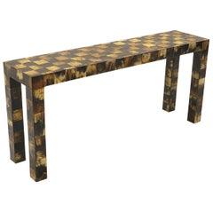 Tessellated Horn Console / Sofa Table by William Piedrahita for Thomas Britt