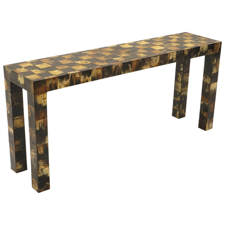 Tessellated Horn Console / Sofa Table by William Piedrahita for Thomas Britt For Sale