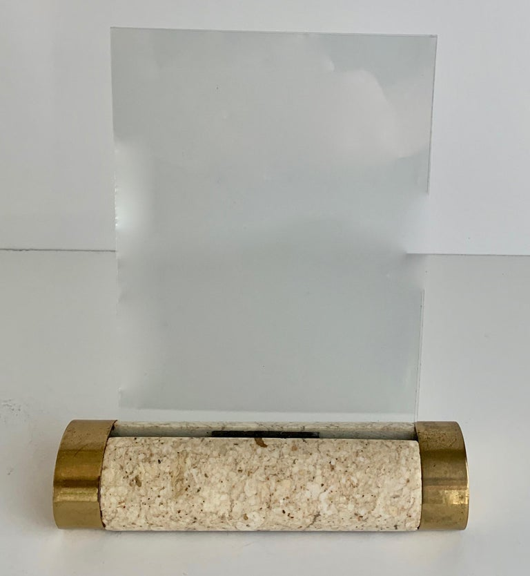 Tessellated Marble and Brass Photo Frame For Sale 1