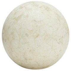 "Tessellated Matte Mactan Stone Sphere - 5.5"""