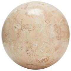 Tessellated Peach Stone Sphere - 5.5 in. diameter