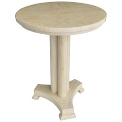 Tessellated Pedestal Table, Attributed to Maitland Smith