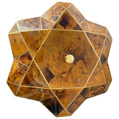 Tessellated Pen Shell and Brass Jewelry Box
