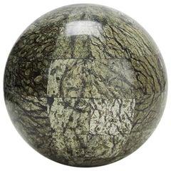 "Tessellated Serpentine Stone Sphere - 5.5"""