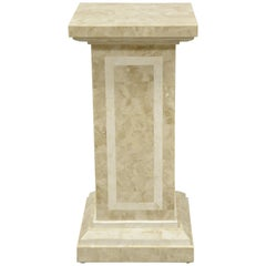 Tessellated Stone Column Pedestal by Marquis Collection of Beverly Hills