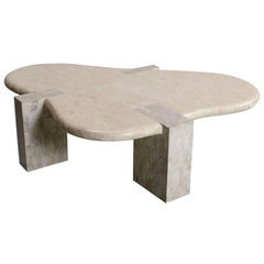Tessellated Stone Biomorphic Coffee Table, by Maitland Smith
