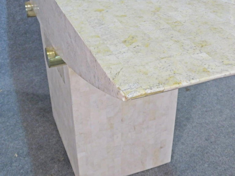 Mid-20th Century Tessellated Stone Console Table For Sale