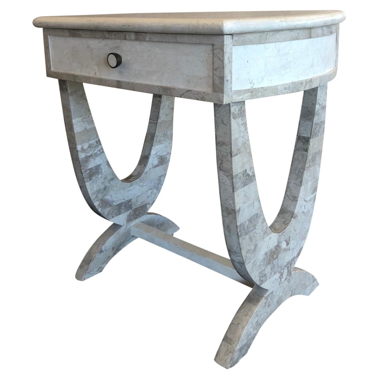 Tessellated Stone One Drawer Side Table