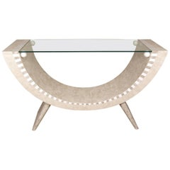 """Tessellated Stone """"Park Avenue"""" Console Table"""