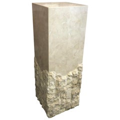 Tessellated Stone Pedestal by Marquis of Beverly Hills