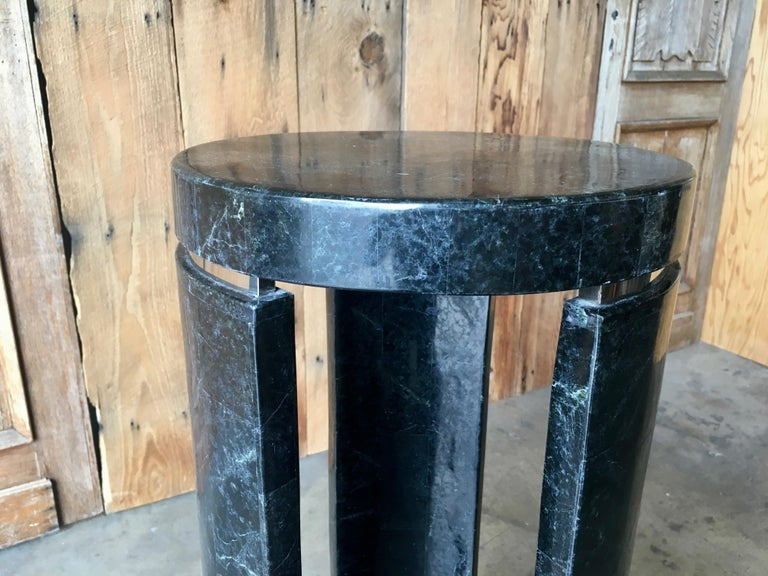 Tessellated Stone Pedestal In Good Condition For Sale In Laguna Hills, CA