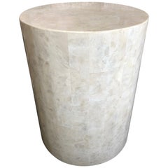 Tessellated Stone Side Table by Marquis of Beverly Hills