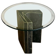 Tessellated Stone Side Table