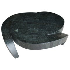 Tessellated Stone Tresfoil Coffee Table by Maitland Smith