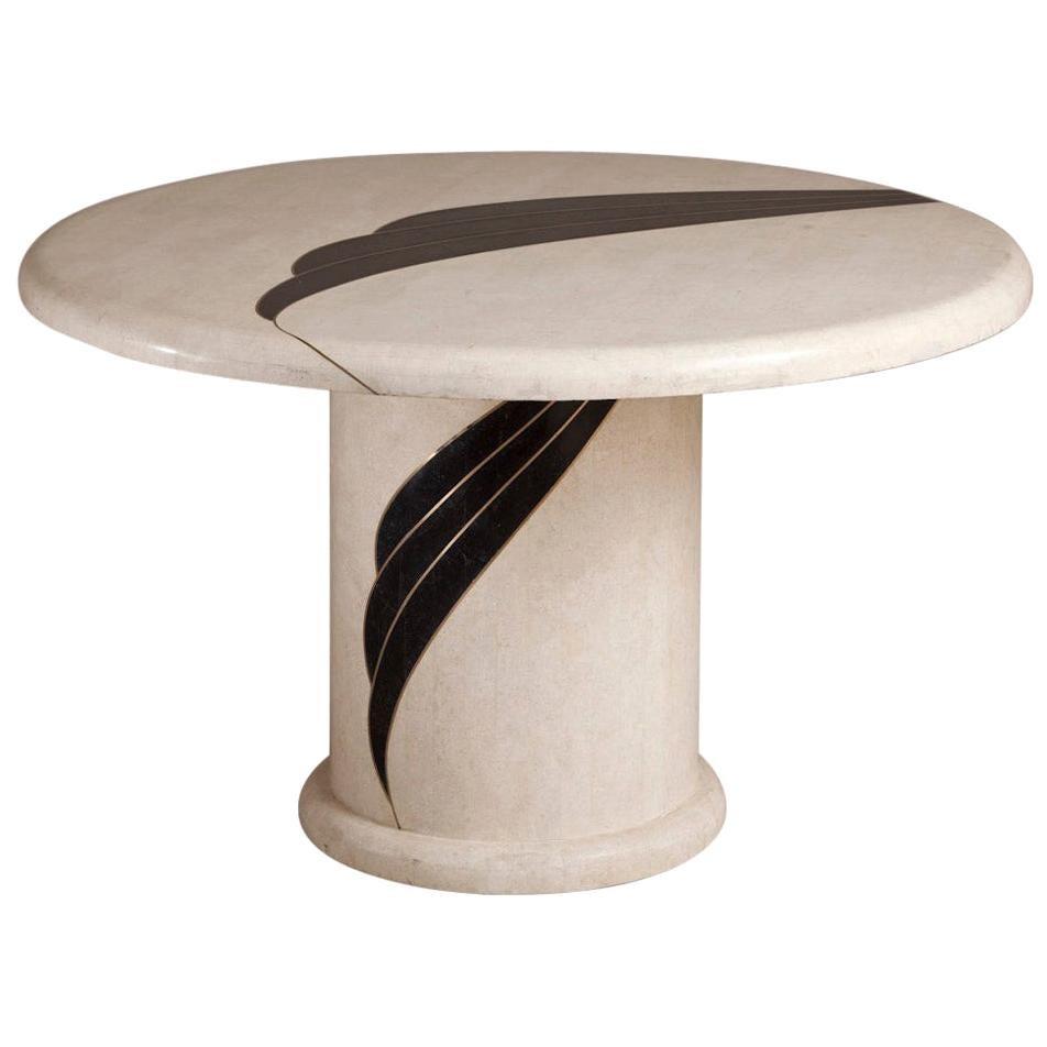 Tessellated Stone Veneered Centre Table by Oggetti, circa 1980