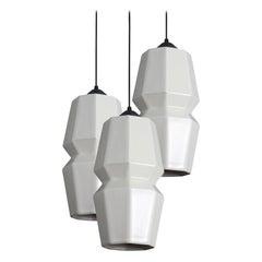 Tessellation 2 Contemporary Hanging Pendant Light Cluster Translucent Porcelain