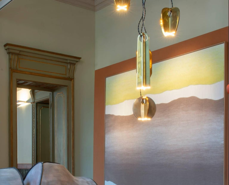 Tessere Five Lights LED Pendant / Chandelier Solid Brass