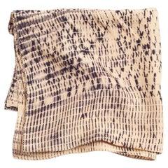 TESU Black & Gold Silk  Scarf